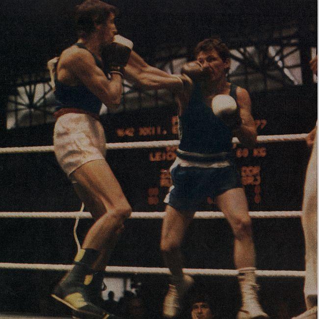 Detalj sa finalnog meča Rusevski (desno) - Zornov