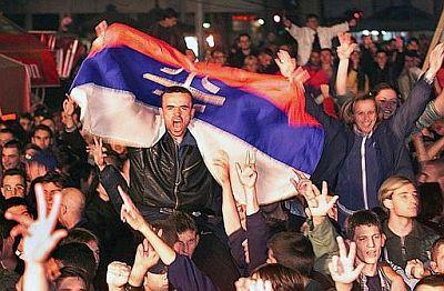 Slavlje na ulicama Beograda