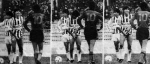 Vlado Čapljić na specifičan način komunicira sa igračem Vardara Tonijem Savevskim