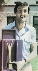 """Kapiten Bosne Žarko Varajić je 1979. godine dobio """"Superoskara"""", priznanje namenjeno najboljem košarkašu u svim evropskim klupskim takmičenjima"""