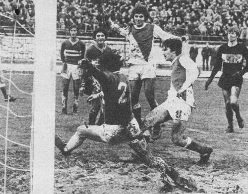 Detalj sa utakmice Vojvodina - Sarajevo na turniru 1972. godine