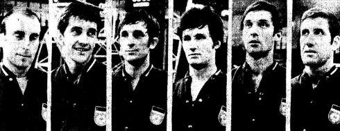 ... Daneu, Simonović, Tvrdić, Kapičić, Skansi i  Trajković.
